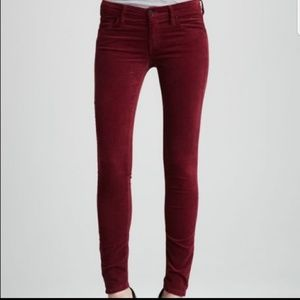 Mother The Rascal Red Velvet Snow Bunny Jeans 27
